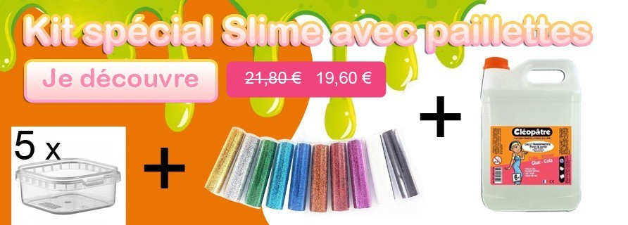 kit slime paillette